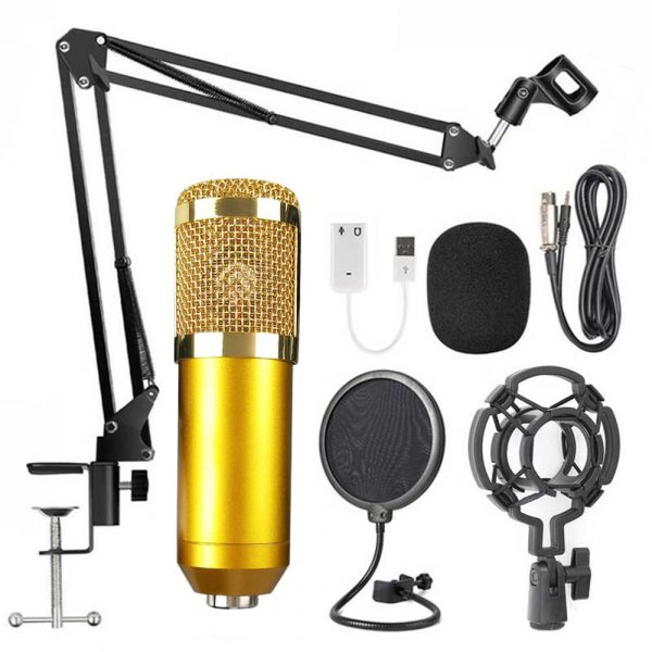 Karaoke Microphone BM-800 Studio Condenser Microphone for Broadcasting, Singing and Recording_4