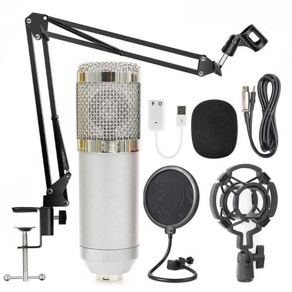 Karaoke Microphone BM-800 Studio Condenser Microphone for Broadcasting, Singing and Recording_7