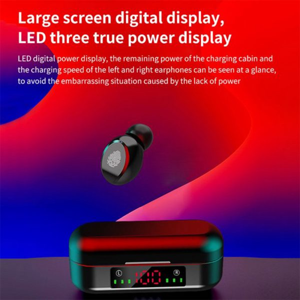 V8 Wireless Earphones Bluetooth 5.0 8D Bass Stereo Waterproof Earbuds Hands-free Headset with Microphone and Charging Case_7
