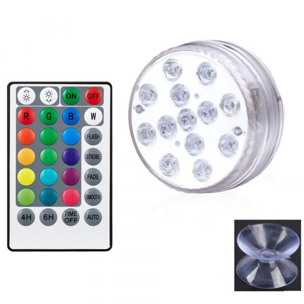 10/13 Lights Remote Controlled LED Diving Light with Magnetic Suction Cup for Fish Tank and Swimming Pool_12
