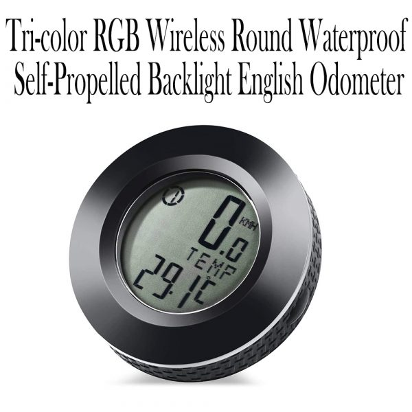 Tri-color RGB Wireless Round Waterproof Self-Propelled Backlight English Odometer_9