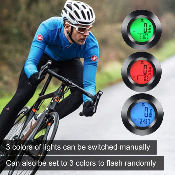 Tri-color RGB Wireless Round Waterproof Self-Propelled Backlight English Odometer_13