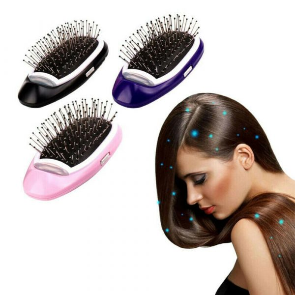 Negative Ion Battery Operated Hair Brush Styling Hair Comb and Scalp Massager_3