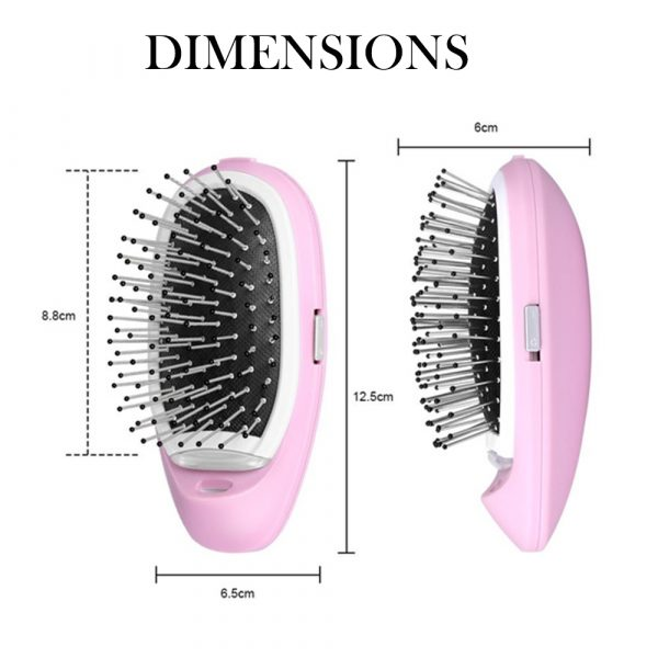 Negative Ion Battery Operated Hair Brush Styling Hair Comb and Scalp Massager_8