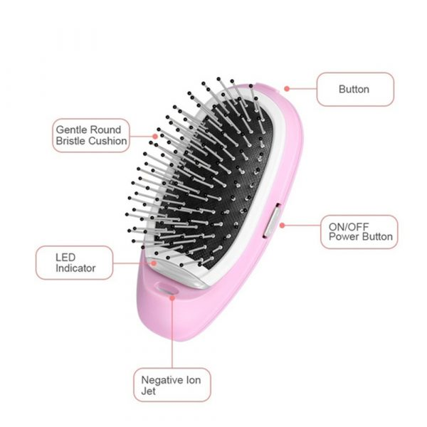 Negative Ion Battery Operated Hair Brush Styling Hair Comb and Scalp Massager_9
