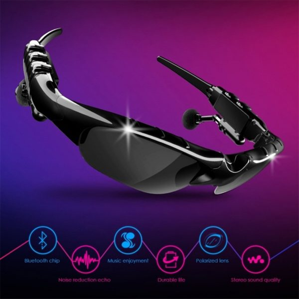 Outdoor Polarized Light Sunglasses and Wireless Bluetooth Headset Portable Glasses Headset_4