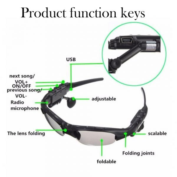 Outdoor Polarized Light Sunglasses and Wireless Bluetooth Headset Portable Glasses Headset_10
