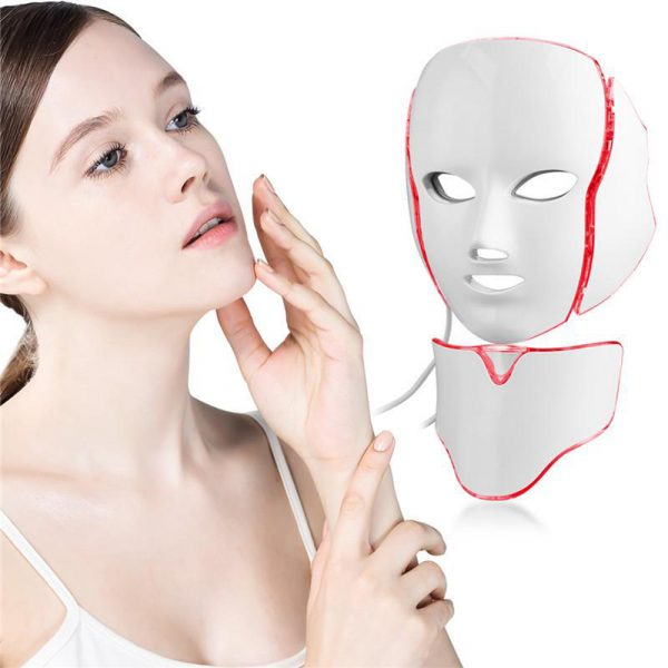 7 Changeable Color LED Light Photon Face and Neck Mask Rejuvenating Facial Therapy Machine_2
