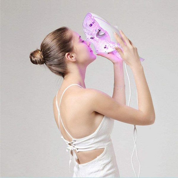 7 Changeable Color LED Light Photon Face and Neck Mask Rejuvenating Facial Therapy Machine_4