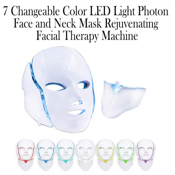7 Changeable Color LED Light Photon Face and Neck Mask Rejuvenating Facial Therapy Machine_13