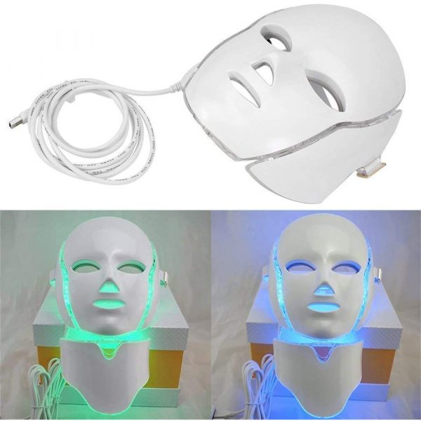 7 Changeable Color LED Light Photon Face and Neck Mask Rejuvenating Facial Therapy Machine_11
