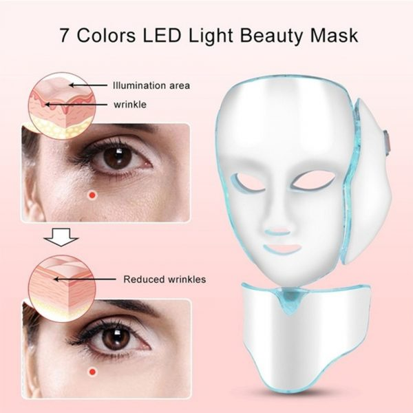 7 Changeable Color LED Light Photon Face and Neck Mask Rejuvenating Facial Therapy Machine_15