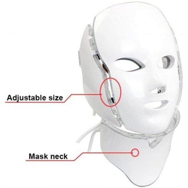 7 Changeable Color LED Light Photon Face and Neck Mask Rejuvenating Facial Therapy Machine_7
