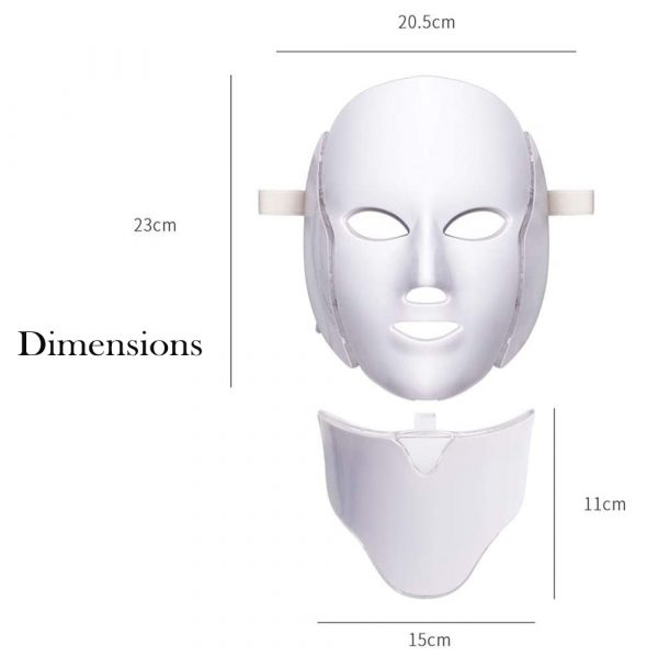 7 Changeable Color LED Light Photon Face and Neck Mask Rejuvenating Facial Therapy Machine_8