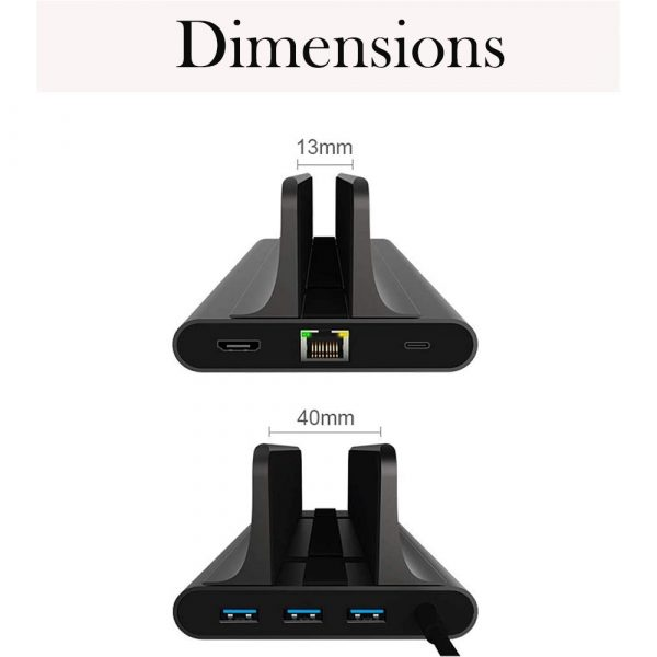 6-in-1 Laptop Vertical Docking Station USB C Converter HDMI 4k Output Suitable for MacBook Air_5