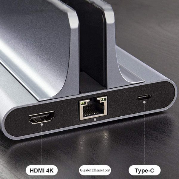 6-in-1 Laptop Vertical Docking Station USB C Converter HDMI 4k Output Suitable for MacBook Air_7