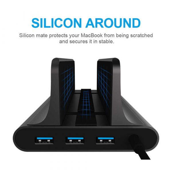 6-in-1 Laptop Vertical Docking Station USB C Converter HDMI 4k Output Suitable for MacBook Air_8