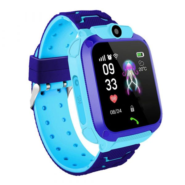 Q12 Life Waterproof SOS USB Rechargeable Smartwatch for Children iOS and Android Ready_0