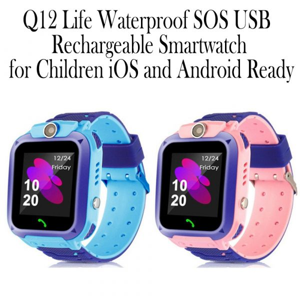Q12 Life Waterproof SOS USB Rechargeable Smartwatch for Children iOS and Android Ready_3