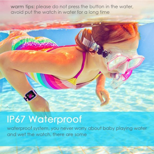 Q12 Life Waterproof SOS USB Rechargeable Smartwatch for Children iOS and Android Ready_17