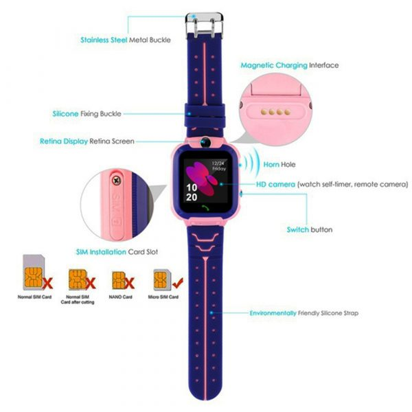 Q12 Life Waterproof SOS USB Rechargeable Smartwatch for Children iOS and Android Ready_10