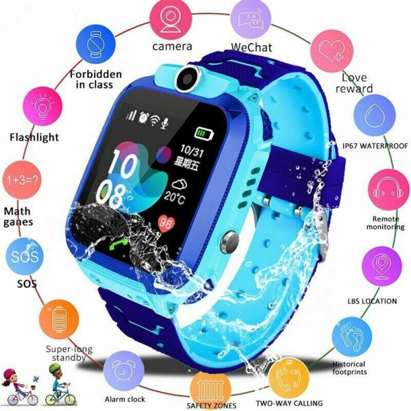Q12 Life Waterproof SOS USB Rechargeable Smartwatch for Children iOS and Android Ready_12