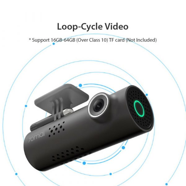 70 Mai HD Wi-Fi Smart Driving Safety Camera Recorder Night Vision Voice Controlled Dash Camera_12