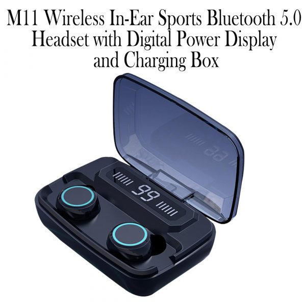 M11 Wireless In-Ear Sports Bluetooth 5.0 Headset with Digital Power Display and Charging Box_12