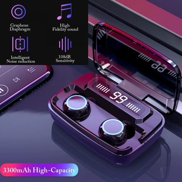 M11 Wireless In-Ear Sports Bluetooth 5.0 Headset with Digital Power Display and Charging Box_13
