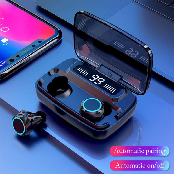 M11 Wireless In-Ear Sports Bluetooth 5.0 Headset with Digital Power Display and Charging Box_4