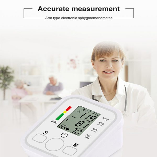 High Accuracy Digital Blood Pressure Monitor Sphygmomanometer for Home and Hospital Use_14