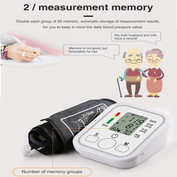 High Accuracy Digital Blood Pressure Monitor Sphygmomanometer for Home and Hospital Use_1