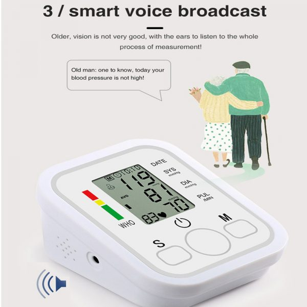 High Accuracy Digital Blood Pressure Monitor Sphygmomanometer for Home and Hospital Use_2