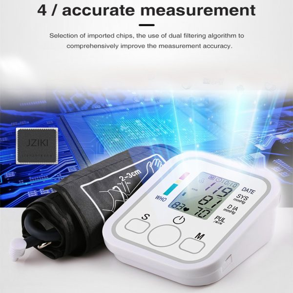 High Accuracy Digital Blood Pressure Monitor Sphygmomanometer for Home and Hospital Use_3