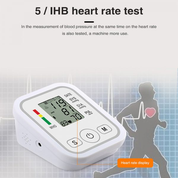 High Accuracy Digital Blood Pressure Monitor Sphygmomanometer for Home and Hospital Use_4
