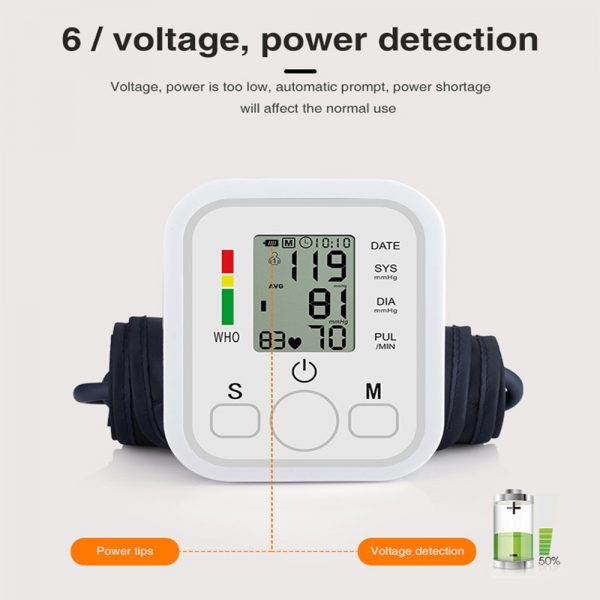 High Accuracy Digital Blood Pressure Monitor Sphygmomanometer for Home and Hospital Use_5