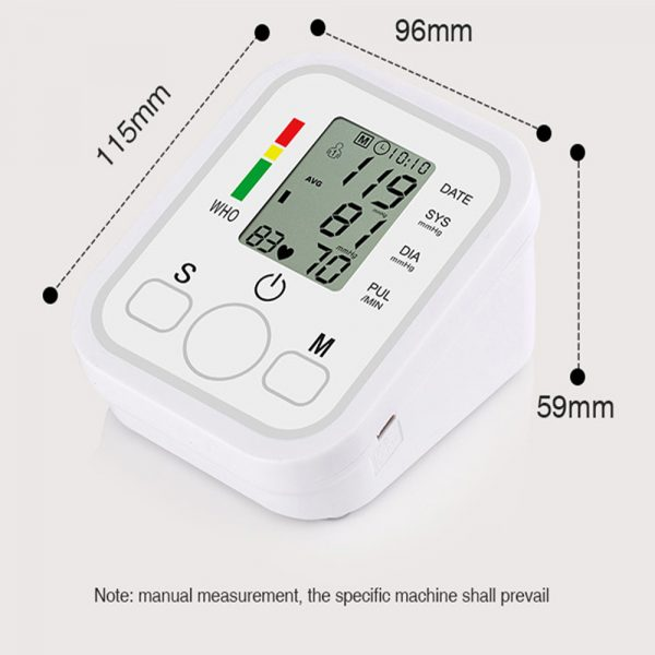 High Accuracy Digital Blood Pressure Monitor Sphygmomanometer for Home and Hospital Use_6