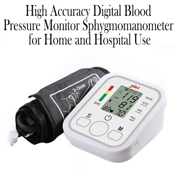 High Accuracy Digital Blood Pressure Monitor Sphygmomanometer for Home and Hospital Use_12