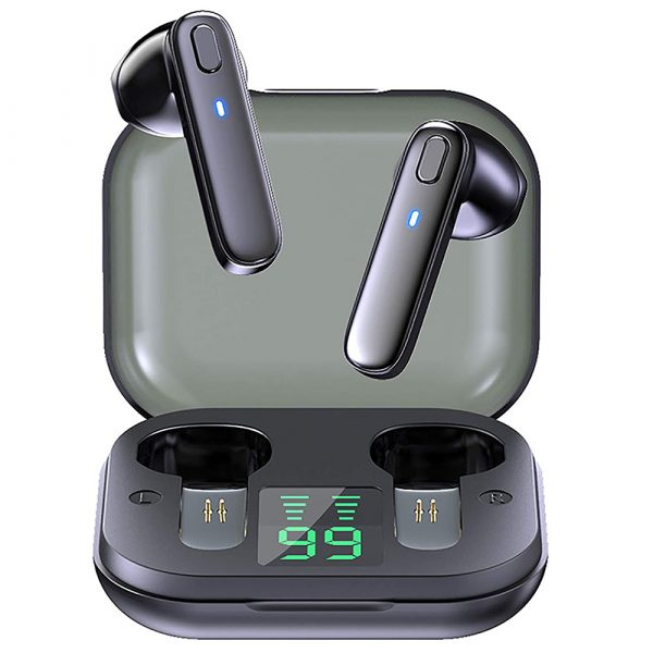 R20 TWS Wireless Bluetooth Headphones deep Bass Waterproof Earbuds with Mic and Charging Case_0