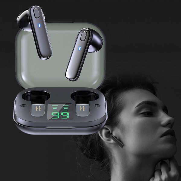 R20 TWS Wireless Bluetooth Headphones deep Bass Waterproof Earbuds with Mic and Charging Case_1