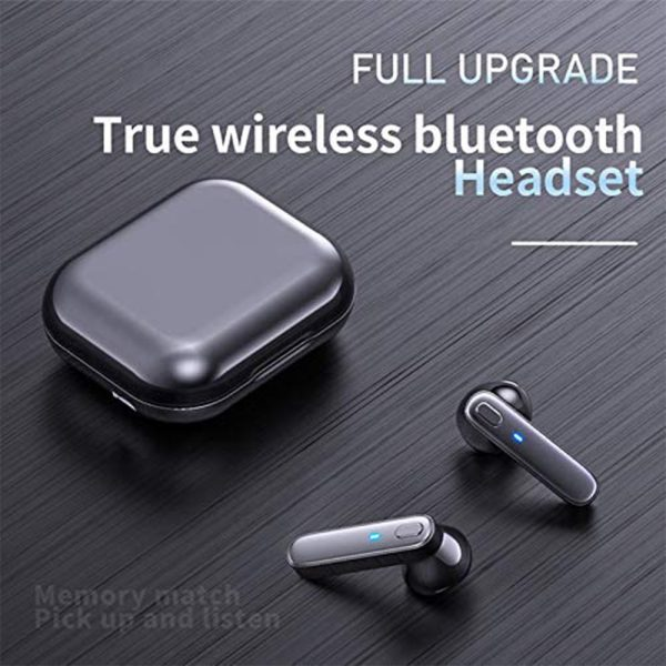 R20 TWS Wireless Bluetooth Headphones deep Bass Waterproof Earbuds with Mic and Charging Case_12