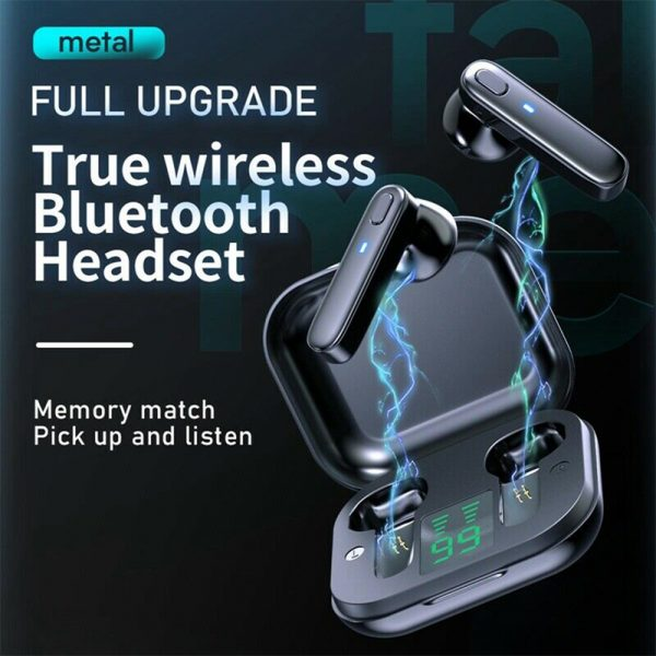R20 TWS Wireless Bluetooth Headphones deep Bass Waterproof Earbuds with Mic and Charging Case_4