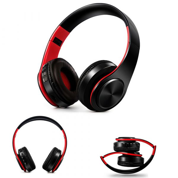 Foldable Wireless Bluetooth Headphones Hands-free Stereo Headset with TF Card Slot_2
