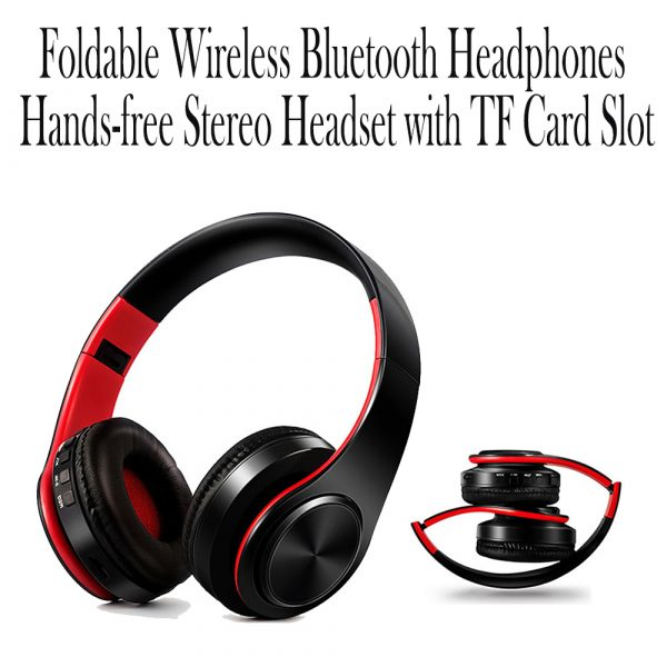 Foldable Wireless Bluetooth Headphones Hands-free Stereo Headset with TF Card Slot_9
