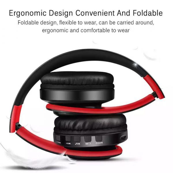Foldable Wireless Bluetooth Headphones Hands-free Stereo Headset with TF Card Slot_3