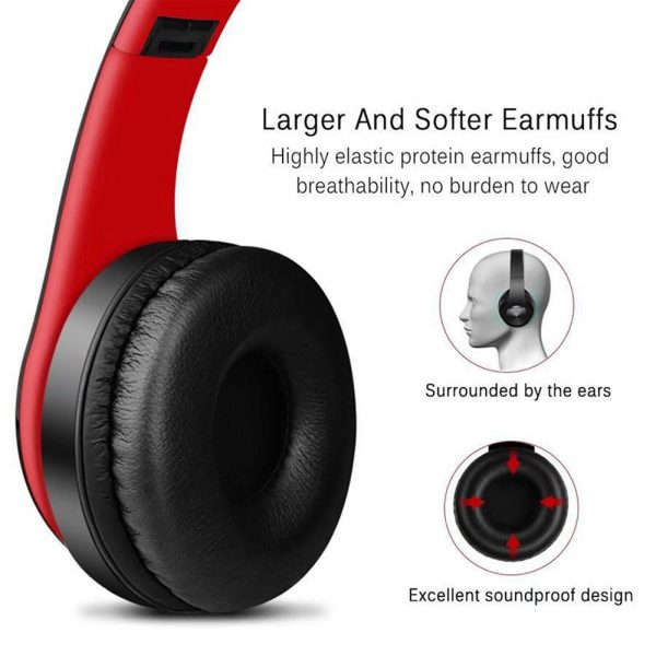 Foldable Wireless Bluetooth Headphones Hands-free Stereo Headset with TF Card Slot_4
