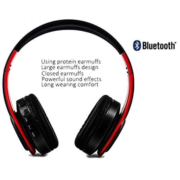 Foldable Wireless Bluetooth Headphones Hands-free Stereo Headset with TF Card Slot_7