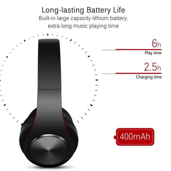 Foldable Wireless Bluetooth Headphones Hands-free Stereo Headset with TF Card Slot_8
