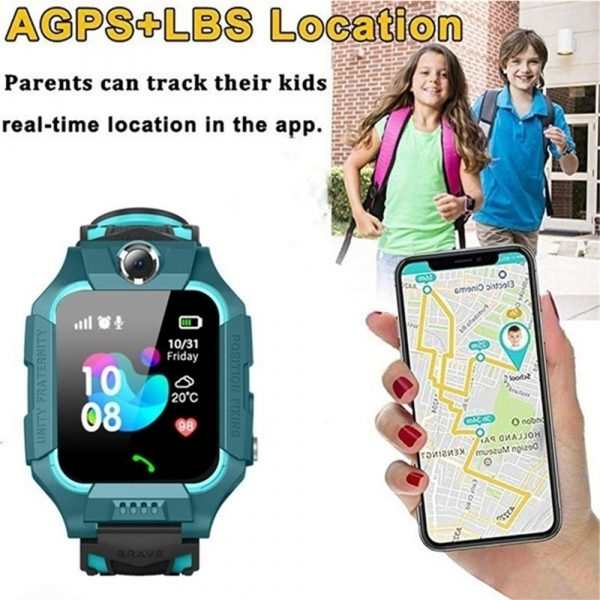 Z6 Q19 Kids Waterproof Smart Watch with Touch Camera SOS Watch for Boys and Girls_5