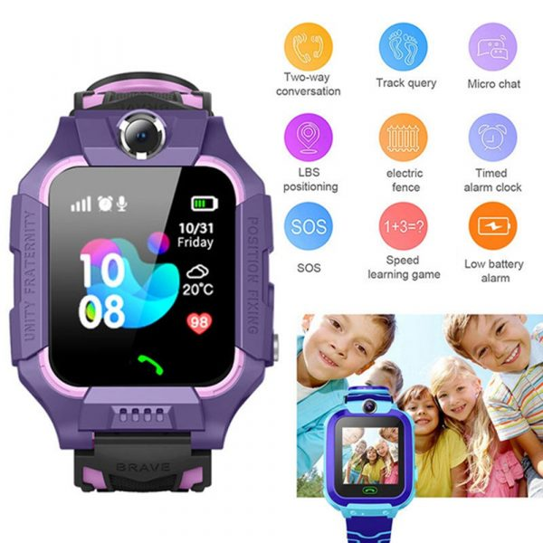 Z6 Q19 Kids Waterproof Smart Watch with Touch Camera SOS Watch for Boys and Girls_9